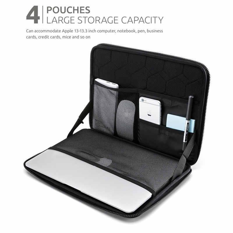Nacuwa 360 stopni odporny na wstrząsy wodoodporny ochronny torba na laptopa Case dla 13 - 13.3 cal, 15 cal komputer torba