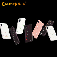 KINGXBAR For Iphone X 10 Case Authorized Swarovski Charming Series Rhinestone Decor PC Protective Casing Cover