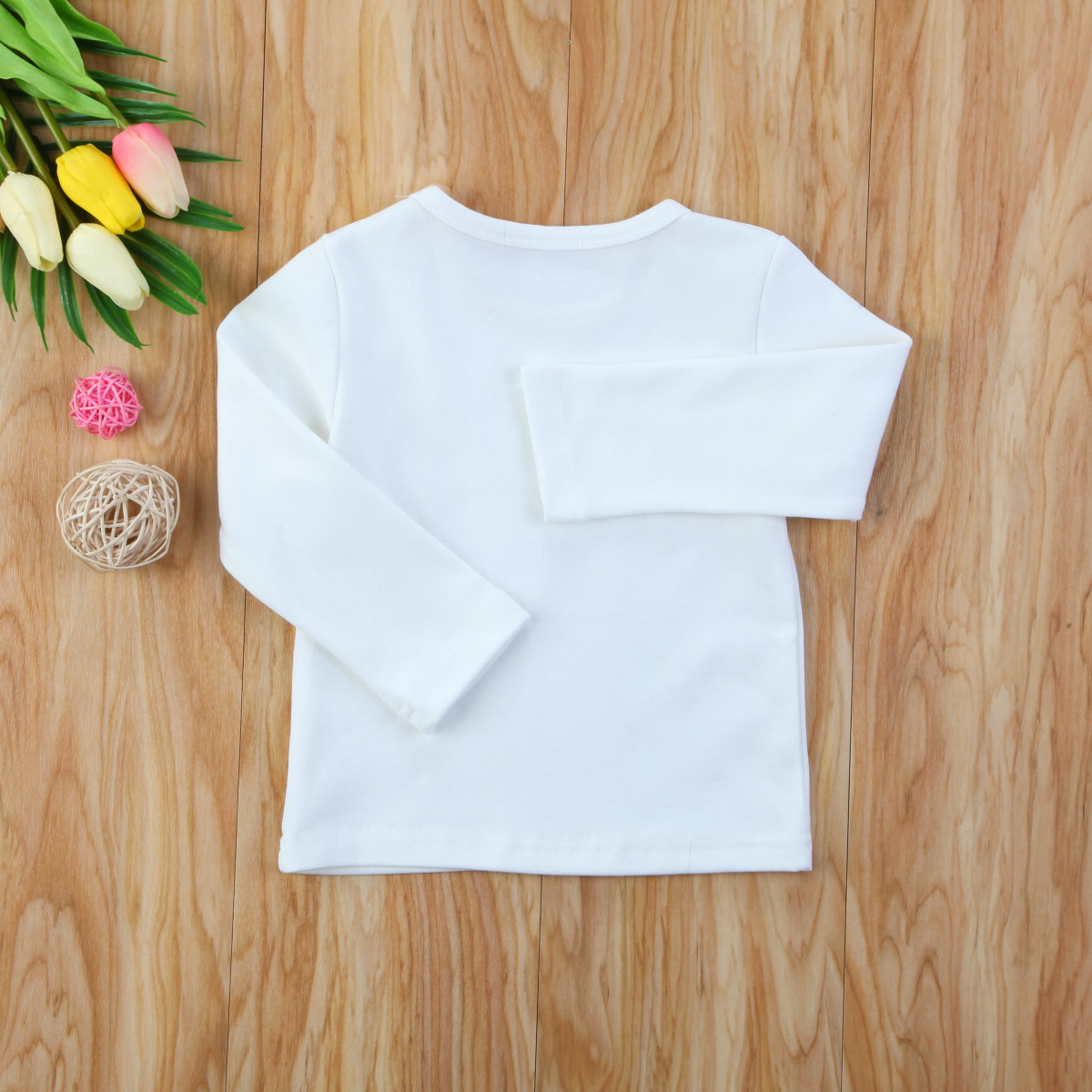 Autumn Cotton Newborn Infant Kids Baby Boys Girls Clothes Solid Cotton Soft Clothing Long Sleeves T-shirt Tops 14