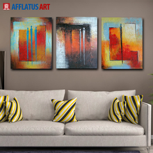 AFFLATUS Canvas Painting Nordic Abstract Figure Painting Oil Painting Canvas Poster Wall Pictures For Living Room