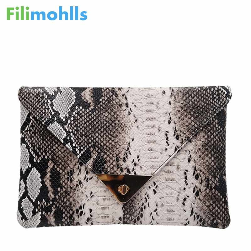 347be7c564d90 Detail Feedback Questions about New Fashion Women s Synthetic Leather  Messenger Bag Boa Snake Skin Envelope Bag Day Clutche Purse Lady Evening Bag  D42 on ...