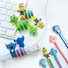Cartoon Cord Winder For iPhone 4 4S 5 5S SE 5C 6 6S 7 Plus For Samsung Galaxy S3 S4 S5 S6 S7 S8 S9 Plus A3 A5 J3 J5 J7 2016 2017(China)