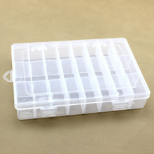 Transparent 24pcs grids plastic storage box Adjustable clear Storage Box Home container Organizer Jewelry Beads Boxes