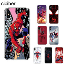 Ciciber Marvel superbohater spiderman etui na telefon do Apple iPhone 7 8 6 6s Plus X XR XS MAX 5S SE miękkie etui tpu Coque Capa Shell(China)