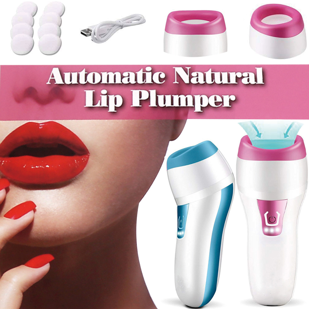 Electric Lip Plumper Device Automatic Fuller Enhancer Intelligent Function USB Charging Thicker Big Lip Plumping Tool Candy Lips