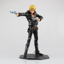 XINDUPLAN One Piece Anime Vinsmoke Sanji Onepiece New World Chef Blackfoot Black Guns Movie Action Figure Toys PVC Model 0520