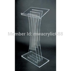 Gratis Verzending Hoge Kwaliteit Fruit Instelling Modern Design Acryl Lessenaar podium stand