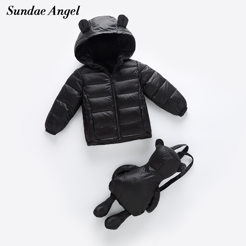 Mother & Kids Down & Parkas Conscientious Sundae Angel Winter Down Jacket For Girls Parkas Hooded Ear Design With Bag White Duck Boys Down Jacket Kids Outerwear Coat 2-6y To Adopt Advanced Technology