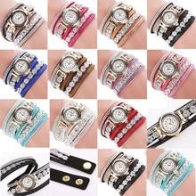 Best selling Women Fashion Casual Analog Quartz Ladies Rhinestone Watches Bracelet Watch Gift Dress Bracelet Relogio hot 40Q