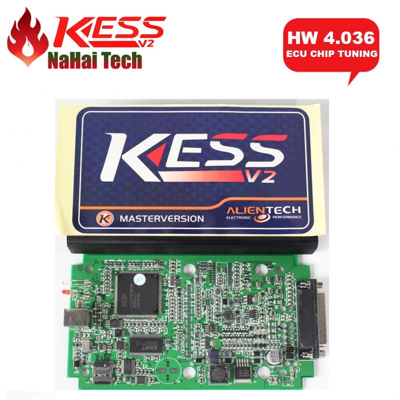 Prix pour 2017 HW V4.036 KESS V2 V2.32 V2.30 OBD2 Gestionnaire Tuning Kit Maître Version Aucun Jeton Limites ECU Chip Tuning De Diagnostic-outil
