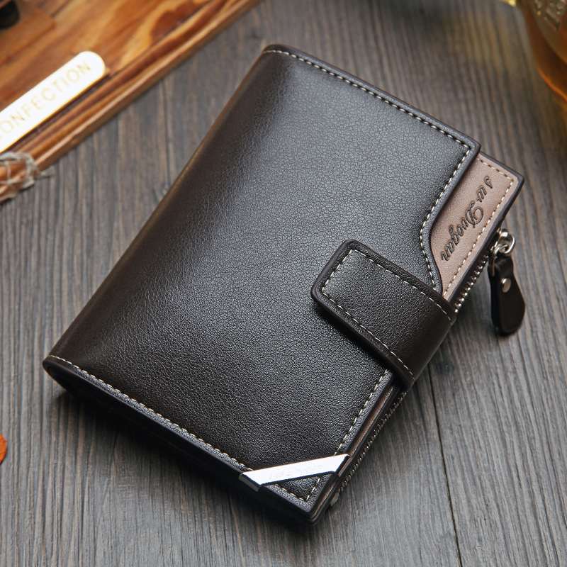 NO ONEPAUL Vintage Men 39 s Short Wallet Men Genuine Leather Multi Card Bit Retro Card Holder Clutch Wallets Purses First Layer Re in Wallets from Luggage amp Bags