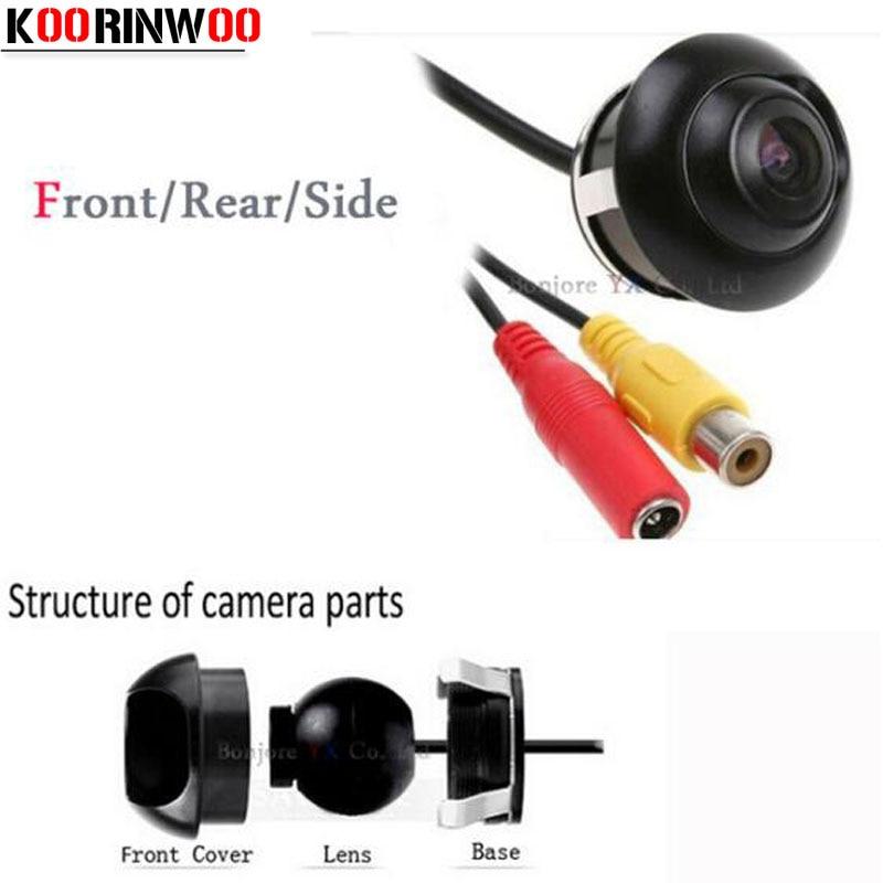 Koorinwoo Мини водонепроницаемая 360 градусов Автомобильная камера заднего вида HD CCD камера заднего вида для автомобиля DVD монитор система парков...