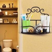 Ванная комната туалет бытовые предметы полка для хранения кованого железа настенный для туалета ванной полки для ванной комнаты LO523437
