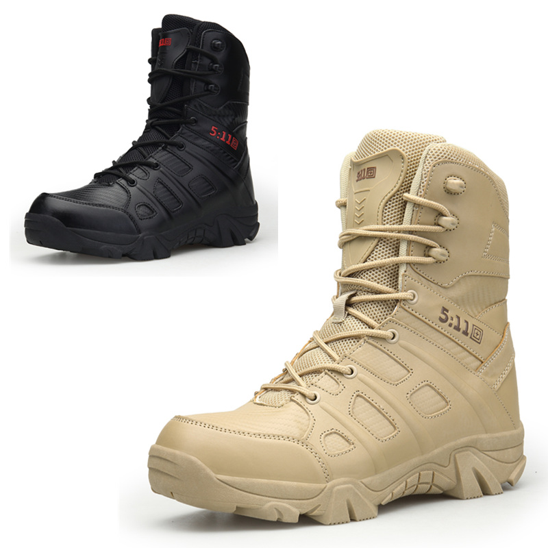 Men's 9'' inch Military Tactical Boots Full Grain Leather ... - photo #8
