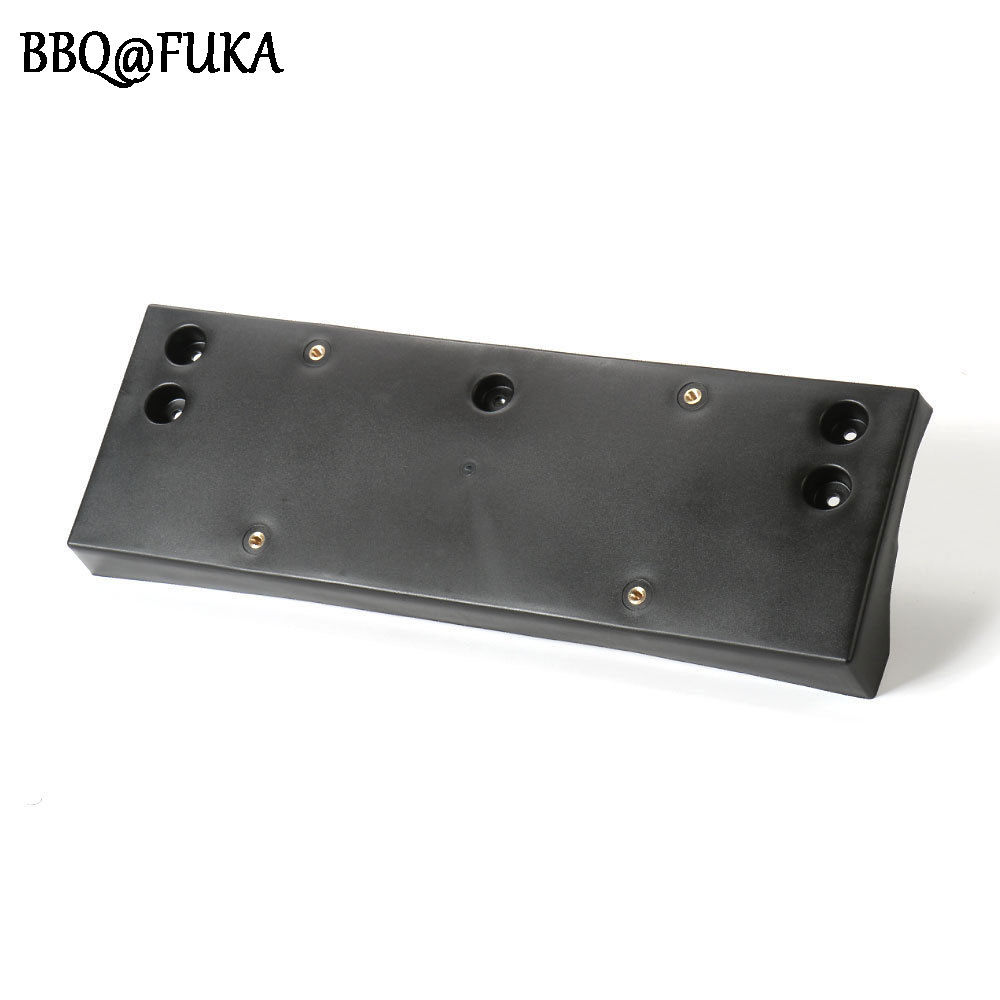BBQ@FUKA Auto ABS Plastic Car Front Bumper License Plate Holder Frame Black Mount Base Fit For Renegade 2.0L 2015 16 Car Styling