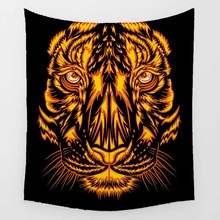 цены Hot sale horse tiger elephant wolf animal  big trees pattern wall hanging tapestry home decoration wall tapestry tapiz pared