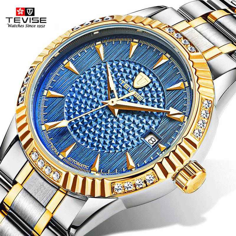 TEVISE New 2107 Top Brand Watches Men Luxury Famous Male Automatic Mechanical Watch Busiiness Skeleton Clock Relogio Masculino relogio masculino tevise luxury brand watch men tourbillon automatic mechanical watches moon phase skeleton wrist watch clock