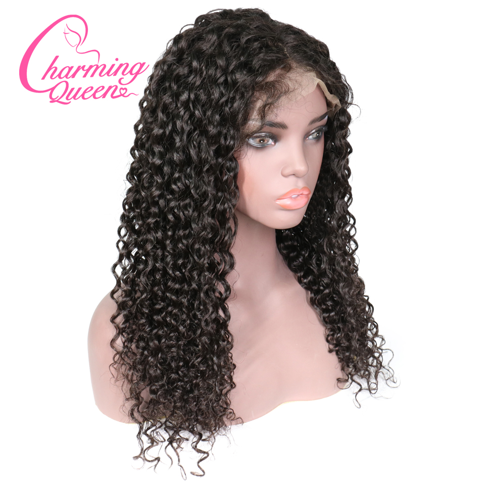 Brazilian Deep Wave Curly Silk Base Wigs Full Lace Human Hair Wigs For Black Women Remy