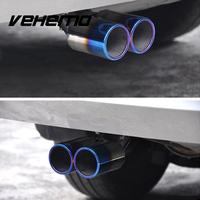 2016 Hot Auto Car Twins Curved Exhaust Rear Tail Pipe Silencer Stainless Steel Universal Car Styling