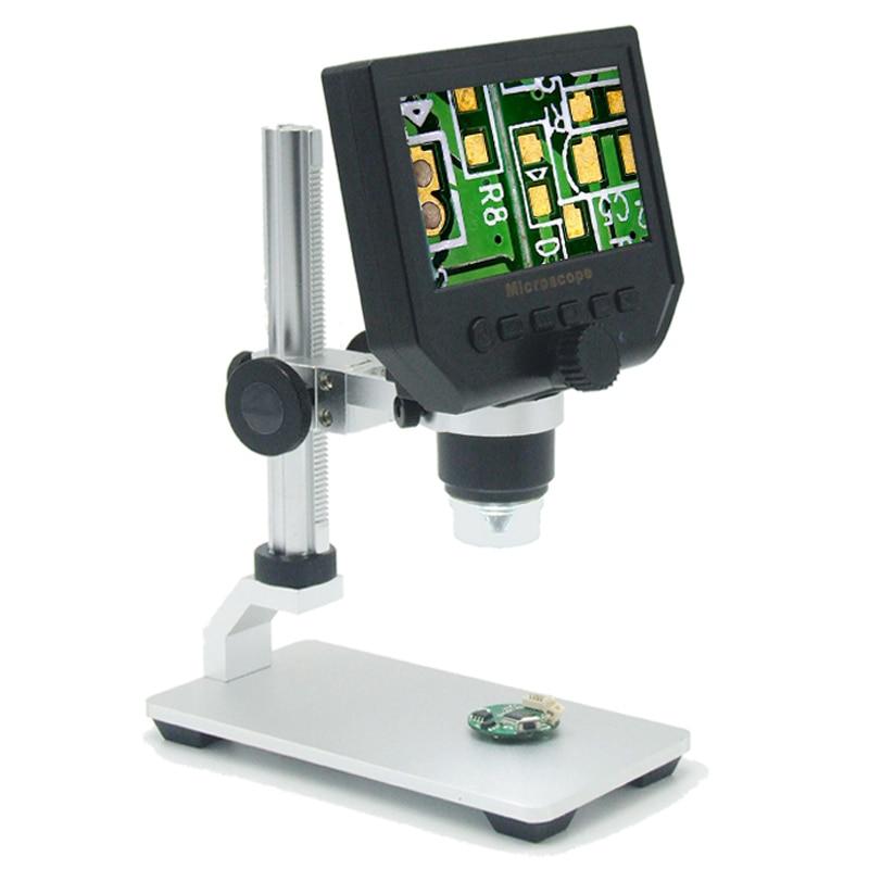 1-600x 3.6MP 8 LED VGA Microscópio Digital USB Microscópio Eletrônico Portátil Com 4.3