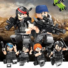 Children's Assembled Military Weapons Doll City Police Figures Small Dolls Assembled Building Blocks Toys Educational Toys gudi police to track suspect the culprits educational blocks fight inserted building blocks assembled toys