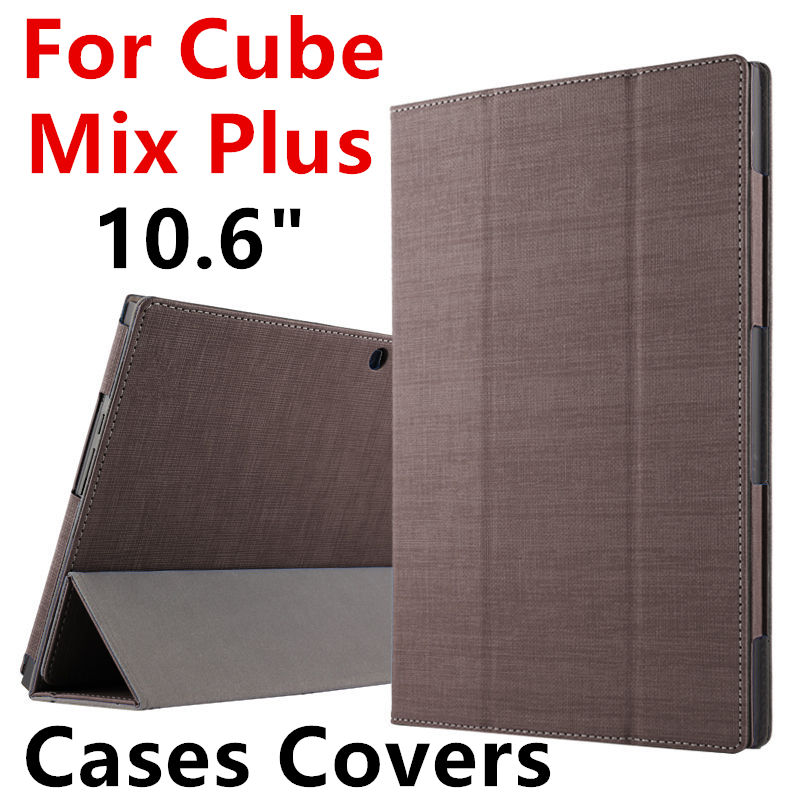 Case For Cube Mix Plus Protective Smart cover Protector Leather Tablet PC For Cube MIX PLUS PU Sleeve 10.6 inch Cases Covers for cube pu protective leather case protective shell skin for cube iwork8 8 inch tablet pc case film pen