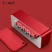 LED Digital Alarm Clock Electronic Portable Wireless Bluetooth Temperature Display With FM Radio Home Watch Subwoofer Desktop