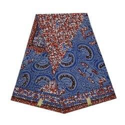 2019 impresión africana de cera de batik de alta calidad en tela de algodón holandés 100% 6 yardas algodón V-L 417