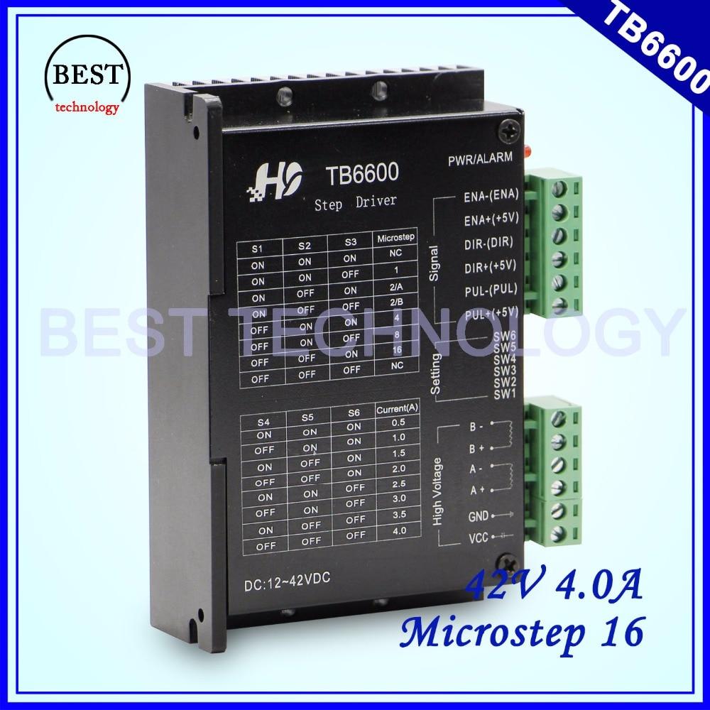 цена на TB6600 Stepper Motor Driver Microstep16 DC12-42v 0.5-4a stepping motor used for Nema17 Nema23