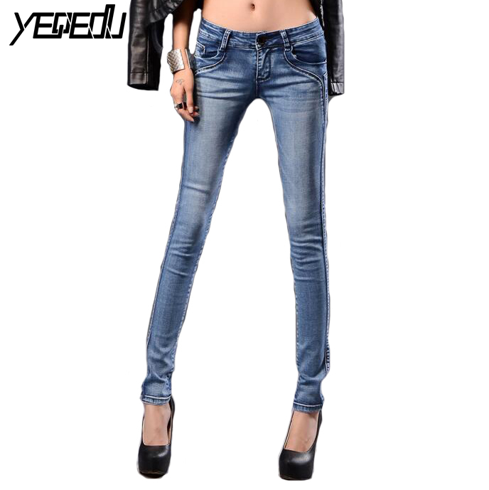 #6702 Spring 2018 Elastic Skinny   jeans   woman Korean Slim fit Denim pants Pantalones mujer Womens stretch   jeans   Low waist 26-32