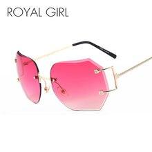 Женские солнцезащитные очки без оправы королевская девушка большие