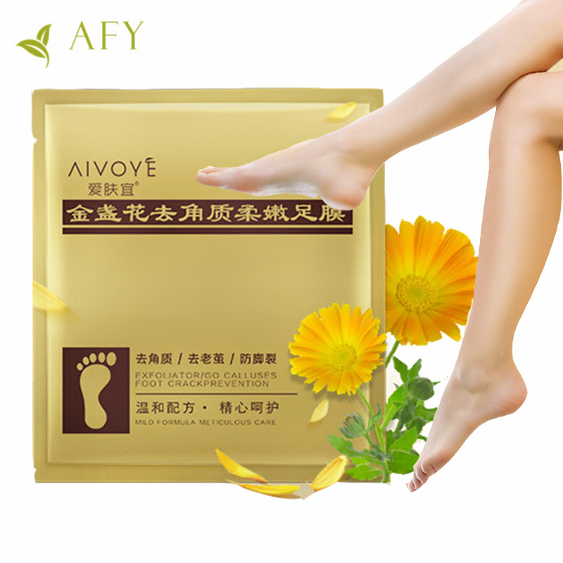2 Pairs Marigolds Remove Dead Skin Foot Mask Skin Smooth Exfoliating Mask For Feet Socks Baby Foot Care Pedicure Socks Peeling