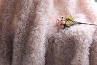 1 yard 3d chiffon rosette fabric, pink /orange 3D rosette blanket, wedding decors, backdrop, prop