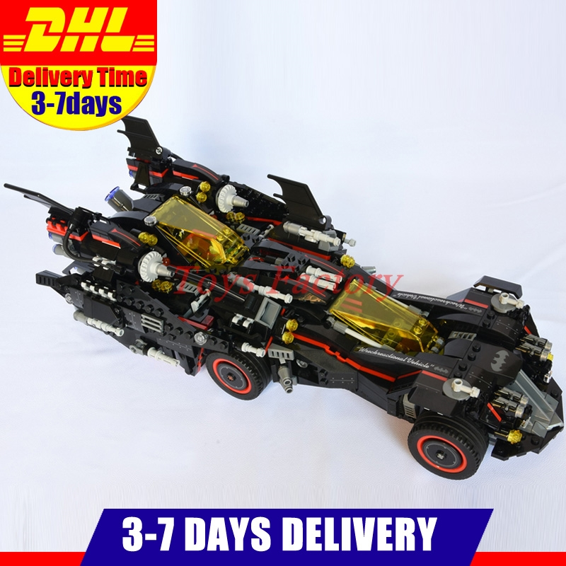DHL IN Stock Lepin 07077 The Ultimate Batmobile Set DIY Toys Genuine Batman Movie Series Building Blocks Bricks Gift Model 70917 lepin 07060 super series heroes movie the batman armored chariot set diy model batmobile building blocks bricks children toys