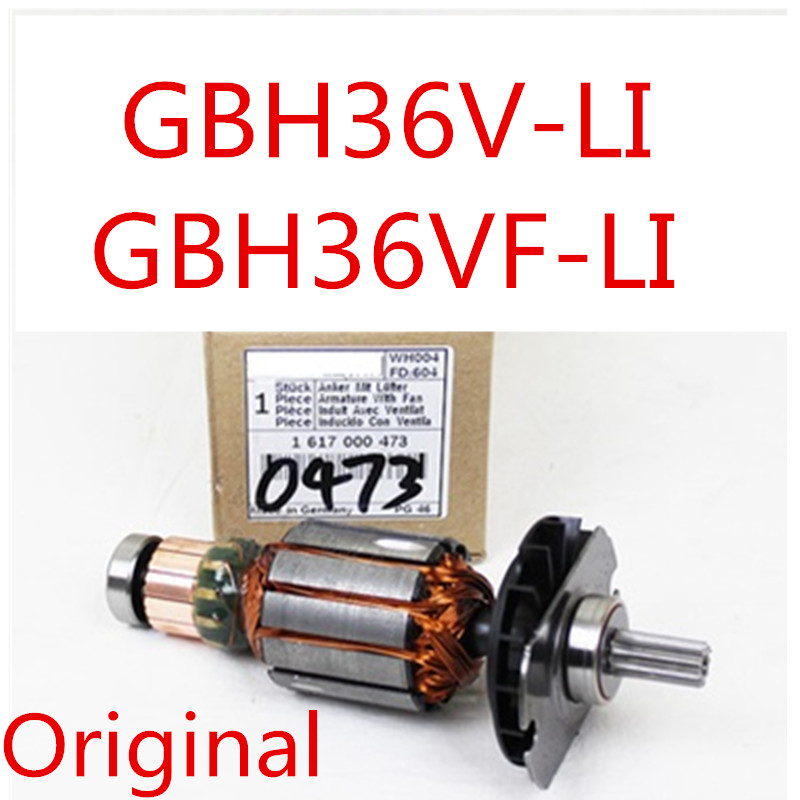 Original Armature Rotor for BOSCH GBH36V LI GBH36VF LI GBH 36VF LI 36V LI 1617000473 Power Tool Accessories Electric tools part