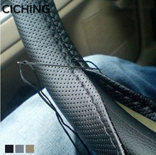 Leather Car Steering Wheel Cover Braid for Hyundai Solaris Accent I30 IX35 Tucson Elantra Santa Fe Getz I20 Sonata I40