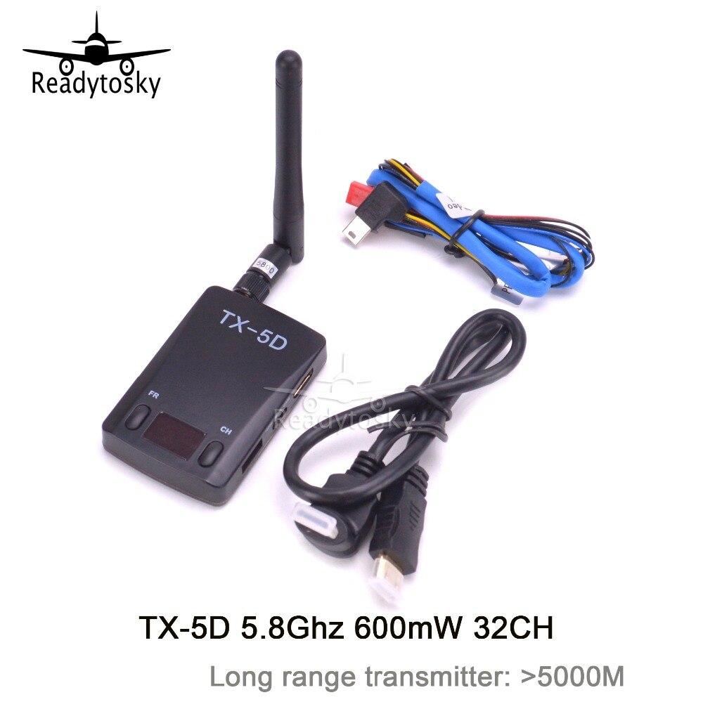 Skyzone TX 5D FPV 5.8 جيجا هرتز 600 ميجا واط 32 قناة الارسال اللاسلكي HDMI إلى AV CVBS ل FPV استقبال-في قطع غيار وملحقات من الألعاب والهوايات على  مجموعة 1