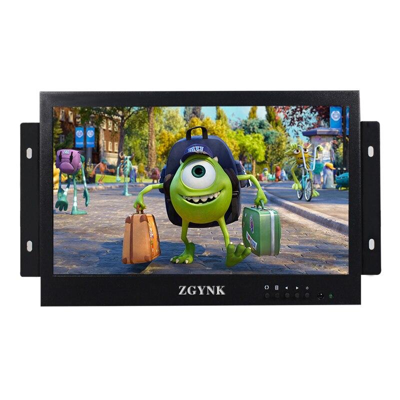 10 pouces ouvert intégré armoire installation sécurité industrielle LCD moniteur HDMI VGA BNC HD interface