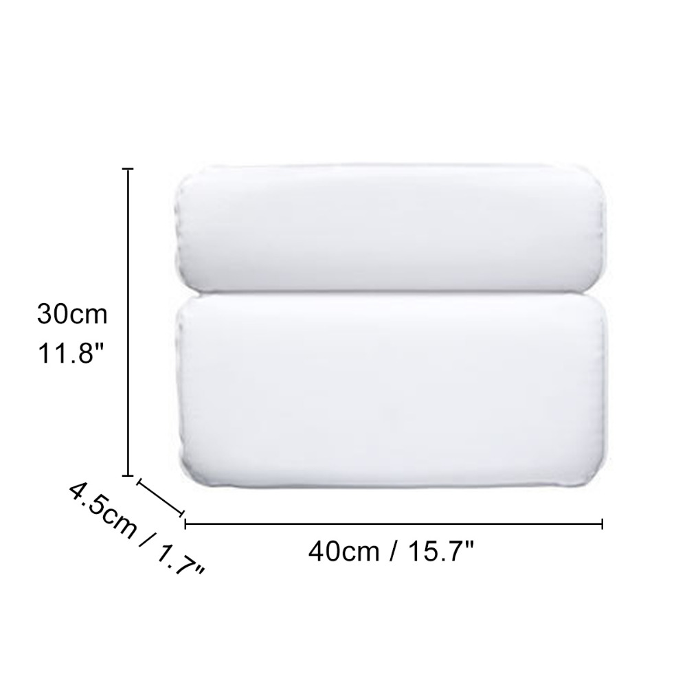 SPA Bath Pillow Non Slip Bathtub Quick Drying Odour Resistant Antibacterial Soft Bath Pillow With Suction Cups For Neck Back in Bath Pillows from Home Garden