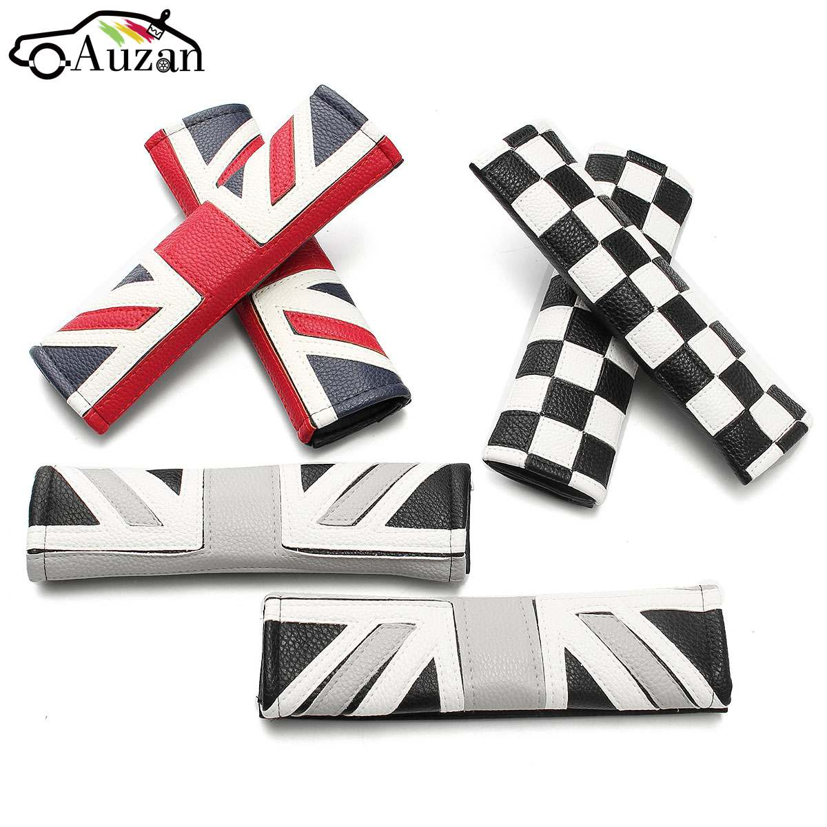 2pcs Union Jack Car Auto Safety Belts Padding Seat Belt Harness Shoulder Pad Cover Children Protection Covers Cushion Support
