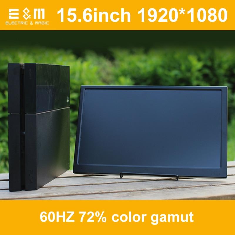 15.6 Inch 1920*1080 Portable 5V Mini Game Display Speaker Inside IPS HDMI 1080P USB 3.5 Jack Car Raspberry Pi Xbox PS4 Monitor