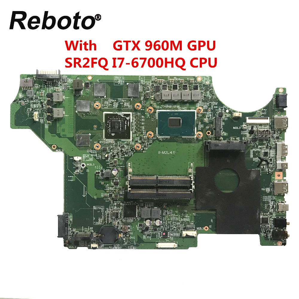 Reboto FOR MSI MS 16J51 VER 1 0 Laptop Motherboard DDR4 With SR2FQ I7 6700HQ 2