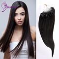 """En stock Sedoso Recto Micro Loop Anillo Extensiones de cabello 18 """"-22"""" Brasileño de la virgen Extensiones de cabello humano 1g/strand color Natural"""
