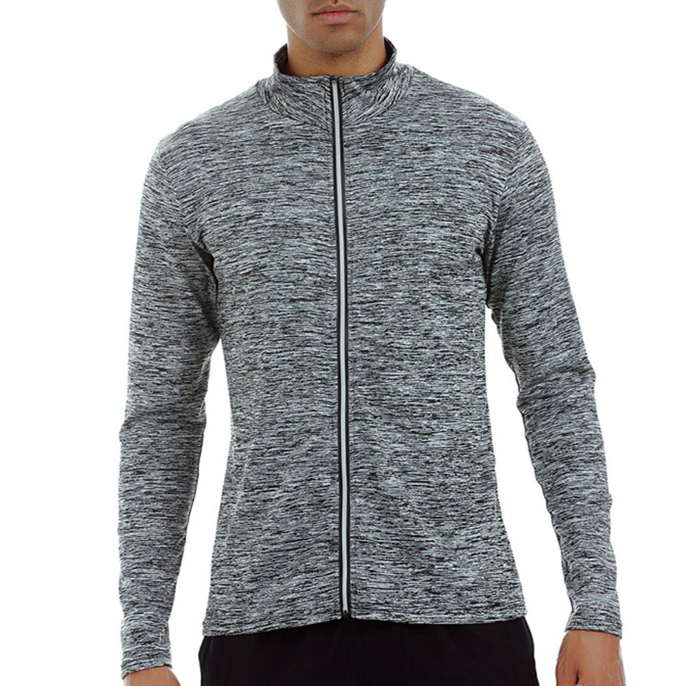 85c9bc26647 Detail Feedback Questions about Men s Elastic jackets Fitness Zipper  overcoat Outdoor Running Fast Drying Tight windbreaker plus size jackets  chaqueta ...