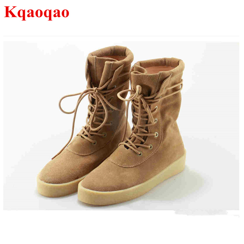 купить Round Toe Women Boots Short Booties Luxury Brand Designer Super Star Runway Shoes Chaussures Femmes Front Lace Up Shoes Flats по цене 6770.51 рублей