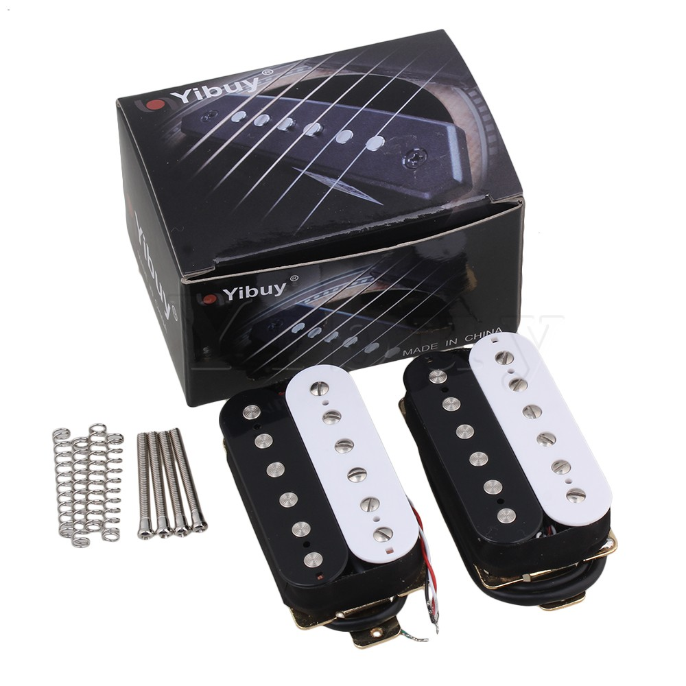 Yibuy Red+Black Ceramic Magnets Double Coil Humbucker Pickups Pack of 2 double black бермуды