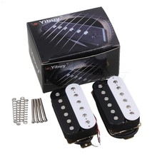 Yibuy Red+Black Ceramic Magnets Double Coil Humbucker Pickups Pack of 2