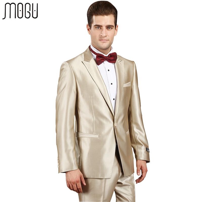 Здесь продается  MOGU Two Piece Pure Color Wedding Suits For Men 2017 New Arrival Fashion Solid Formal Slim Fit Suits Men Asian Size Men