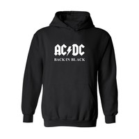 New Rock And Roll AD DC Hoodies Harajuku Tshirt Black And Classic Mens Winter Clothes Mens