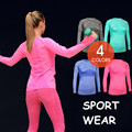 Woman Fitness Tshirts Long Sleeve Autumn Spring Workout Tees Show Fingers Design Quick Dry T Shirt Elastic Active Clothes